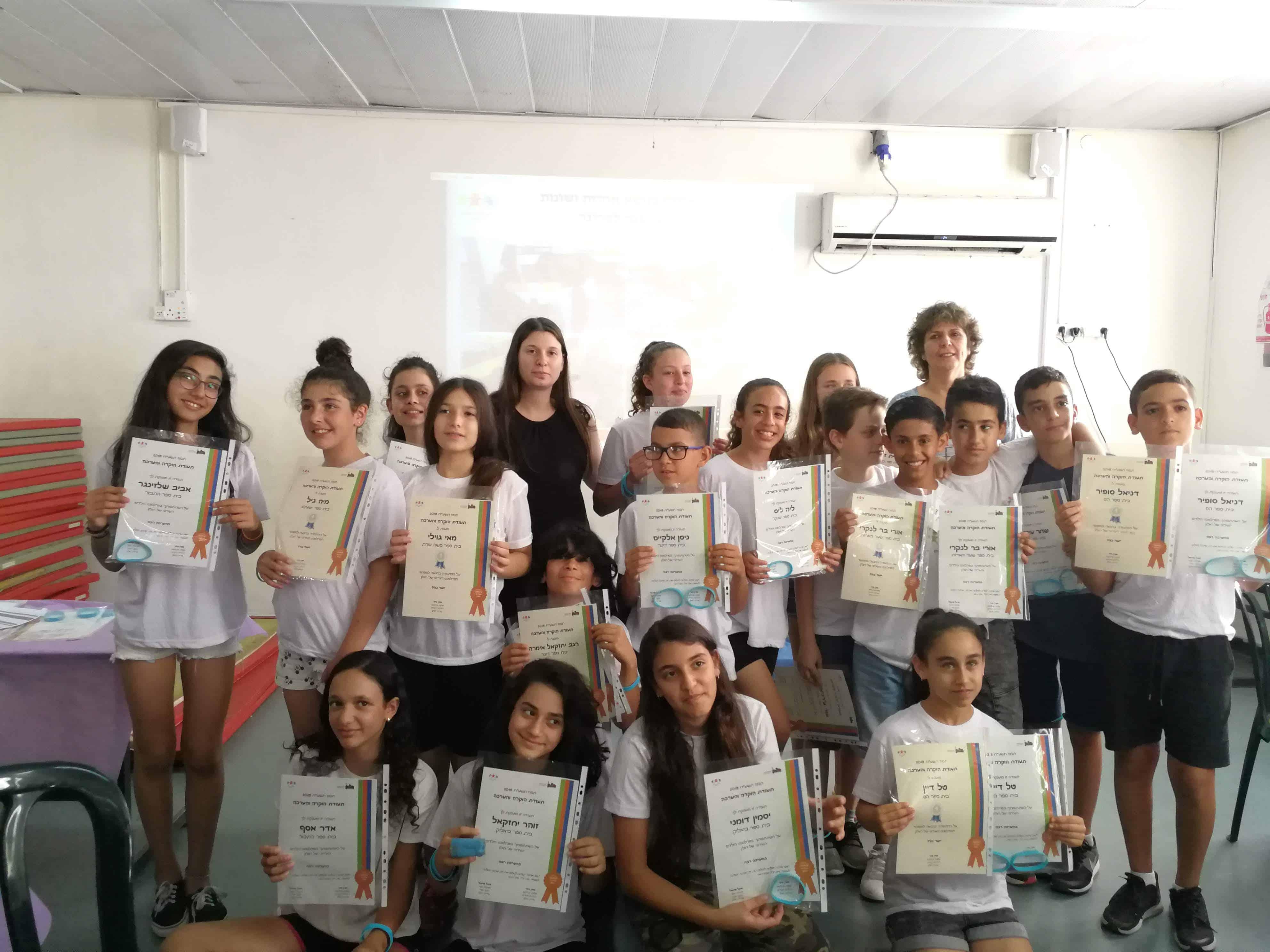 מפגש סיום שנה של פרלמנט הילדים העירוני של חולון. צילום-עיריית חולון
