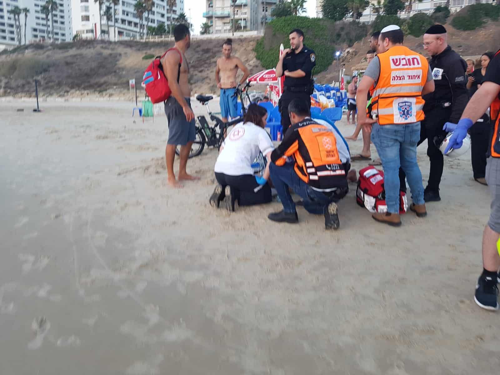 טביעה בחוף הגולשים הערב, צילום: באדיבות דוברות איחוד הצלה