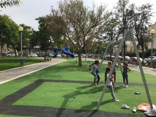 עבודות לשדרוג גן התותחנים בתל גיבורים, צילום-עיריית חולון