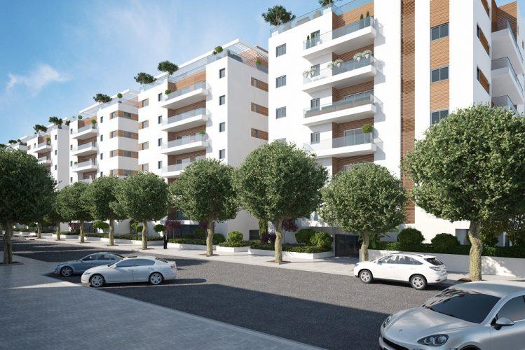 לוינסקי עופר - פרויקט אגרובנק חולון (8 בניינים של 7 קומות) הדמייה קרדיט: לינסקי-עופר
